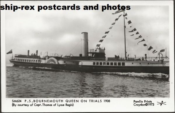 BOURNEMOUTH QUEEN (Red Funnel) postcard (b1)